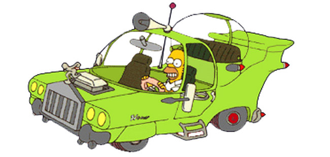 Homer Simpsons' car comes to life!